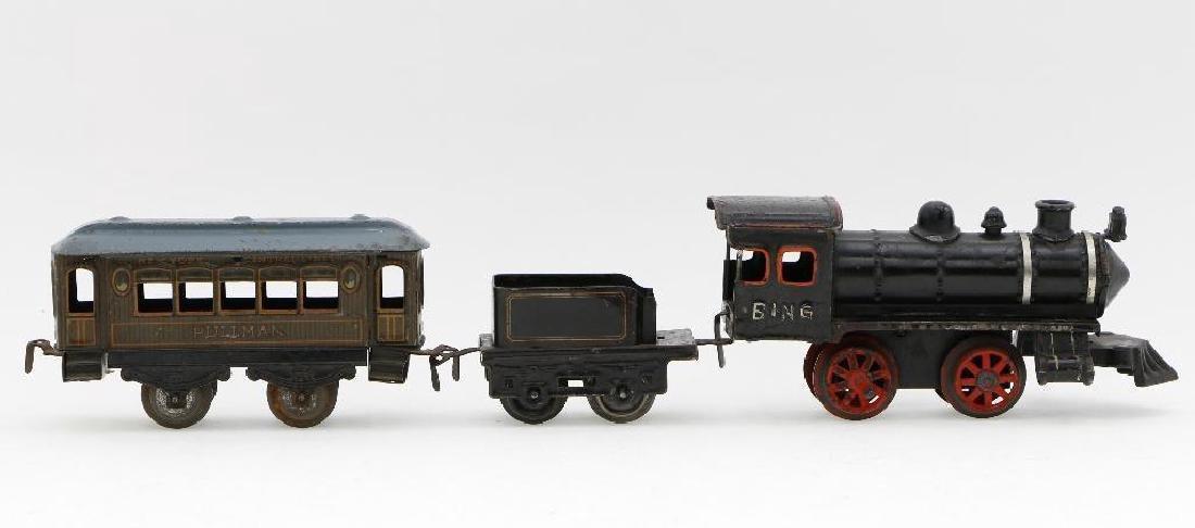Bing 0 Gauge Locomotive and Car Grouping