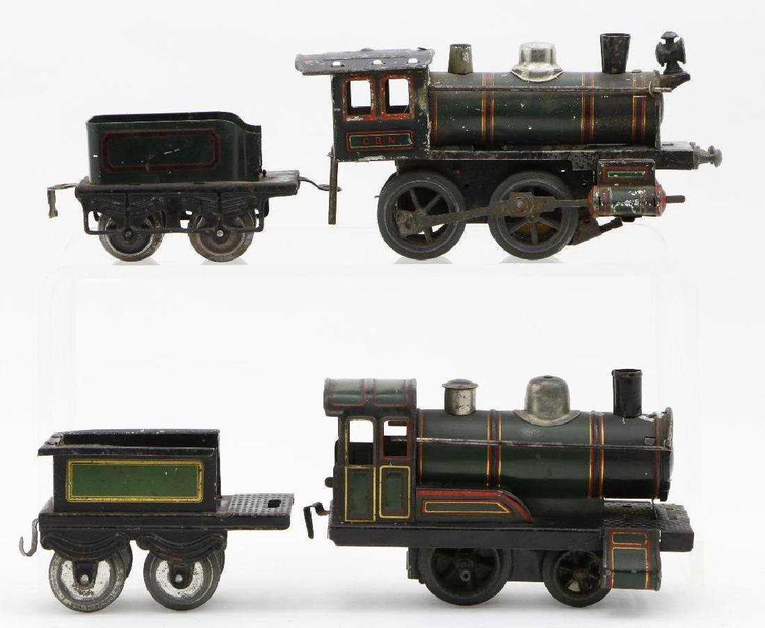 Bing 0 Gauge Locomotive and Passenger Car Grouping