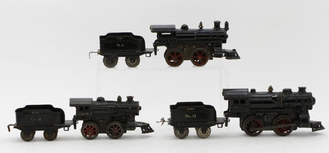 Ives O Gauge Locomotive and Tender Grouping