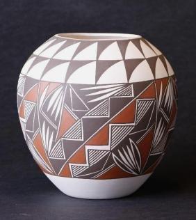 Laguna polychrome pottery jar