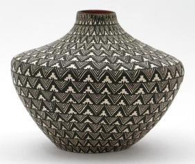Acoma pottery seed jar