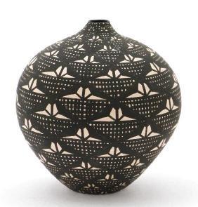 Acoma miniature pottery seed jar