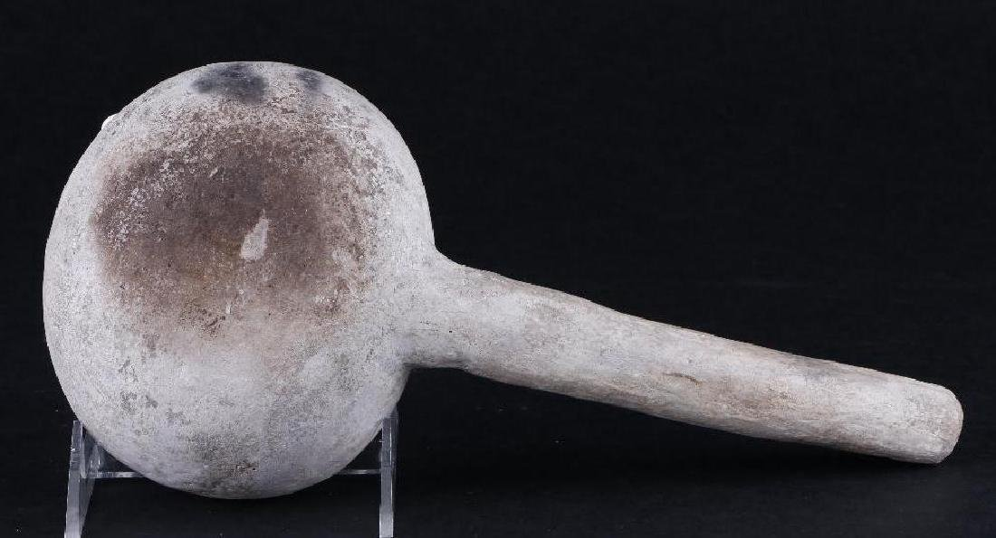Anasazi black-on-white pottery ladle - 2
