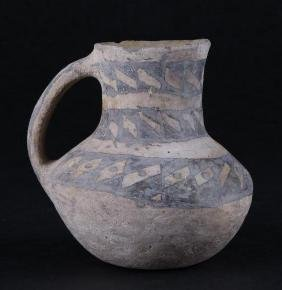 Anasazi black-on-white pottery pitcher