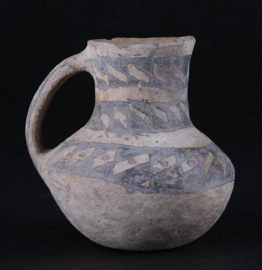 Anasazi black-on-white pottery pitcher