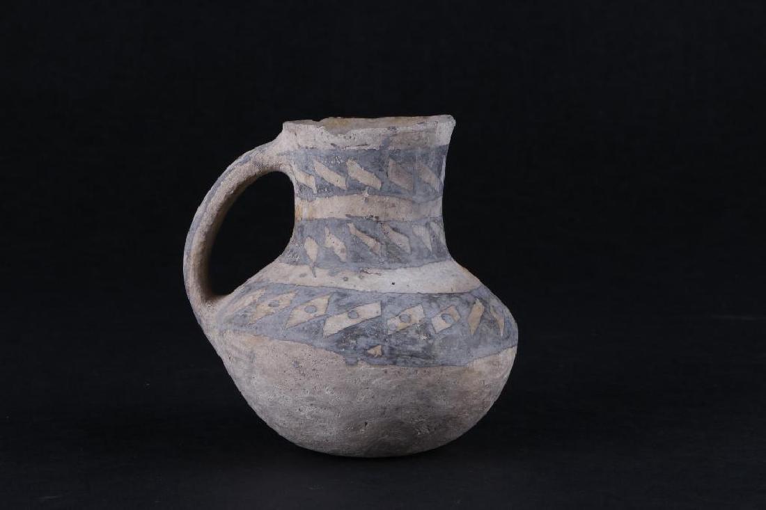 Anasazi black-on-white pottery pitcher - 2