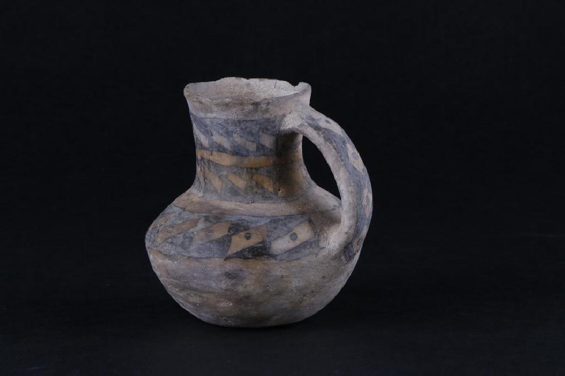 Anasazi black-on-white pottery pitcher - 4