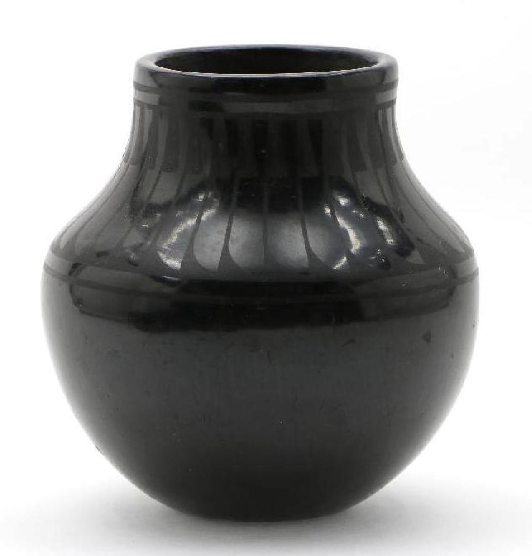 San Ildefonso blackware pottery jar