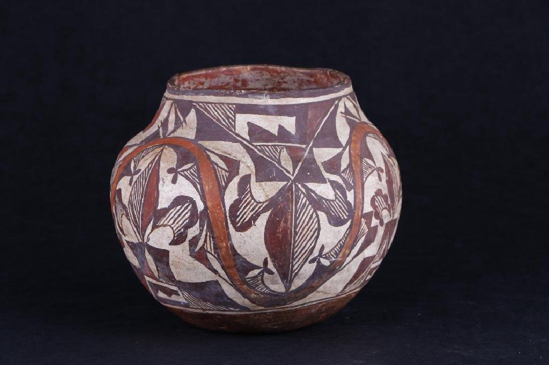 Acoma polychrome pottery jar - 3