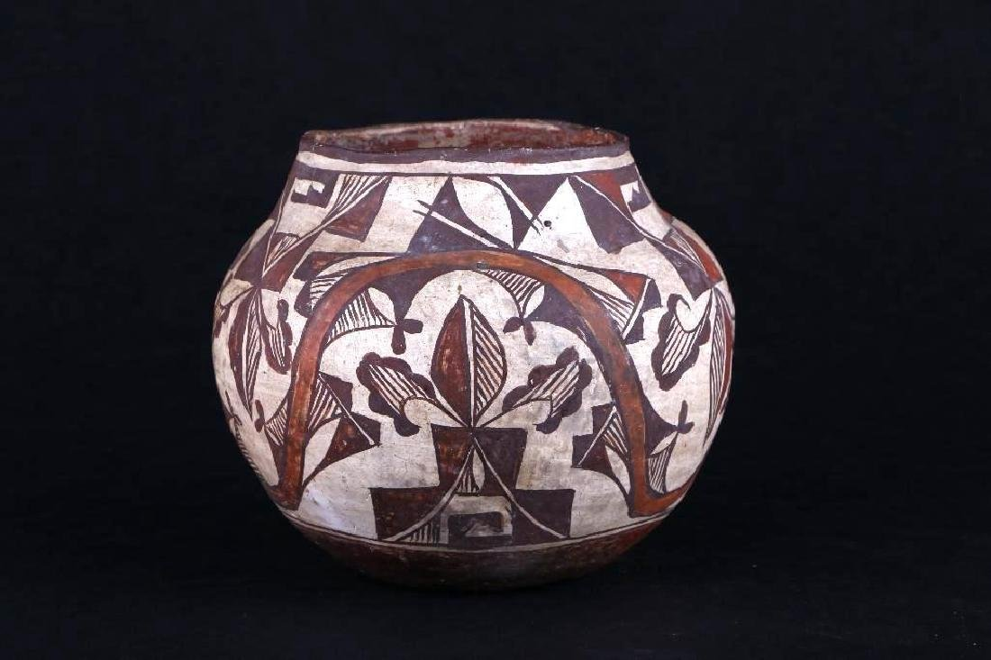 Acoma polychrome pottery jar - 4