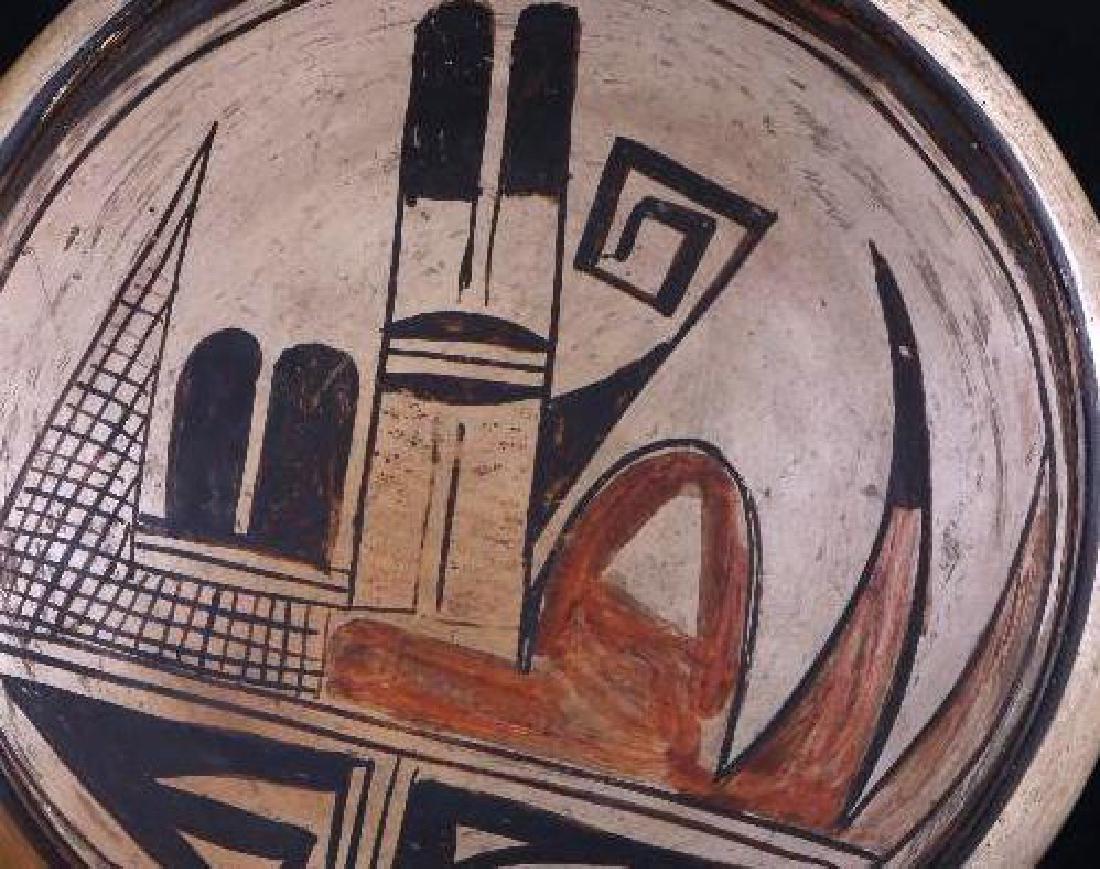 Hopi polychrome pottery bowl - 2