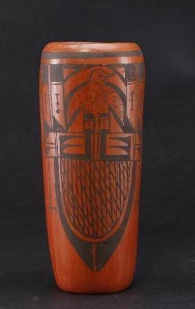 Hopi pottery cylinder jar