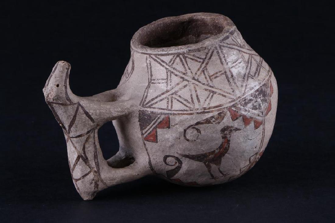 Unusual Zuni polychrome pottery effigy jar - 3