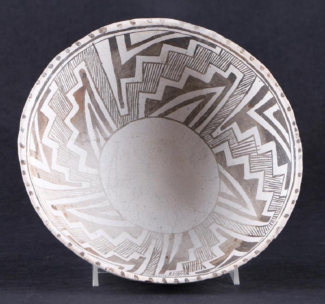 Tularosa black-on-white pottery bowl