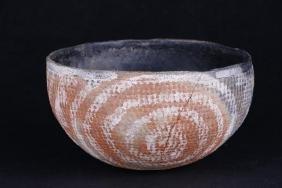 Anasazi corrugated pottery bowl