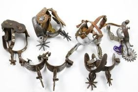 Six pairs of Mexican spurs