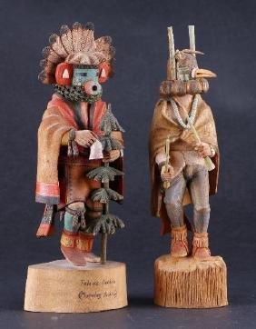 Two Hopi katsina dolls