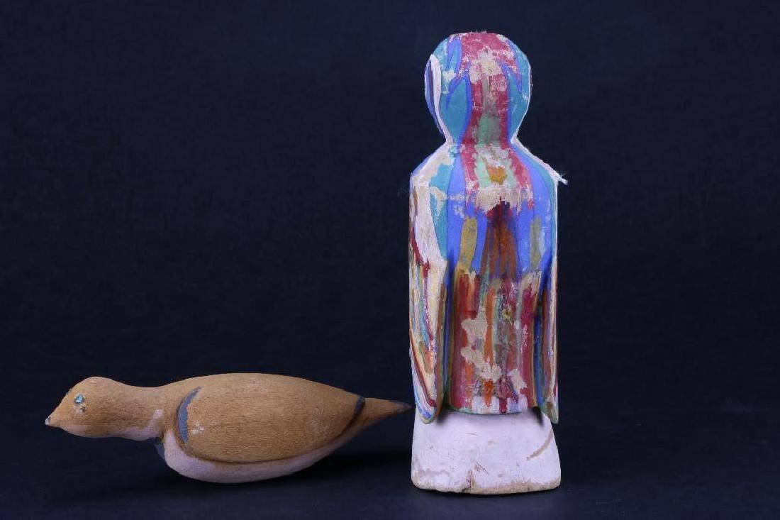 Two Hopi wood bird effigies - 2