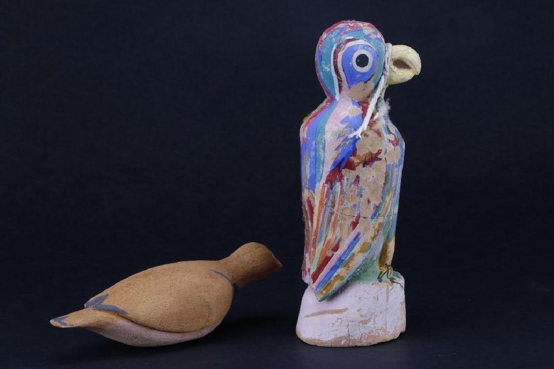 Two Hopi wood bird effigies - 3