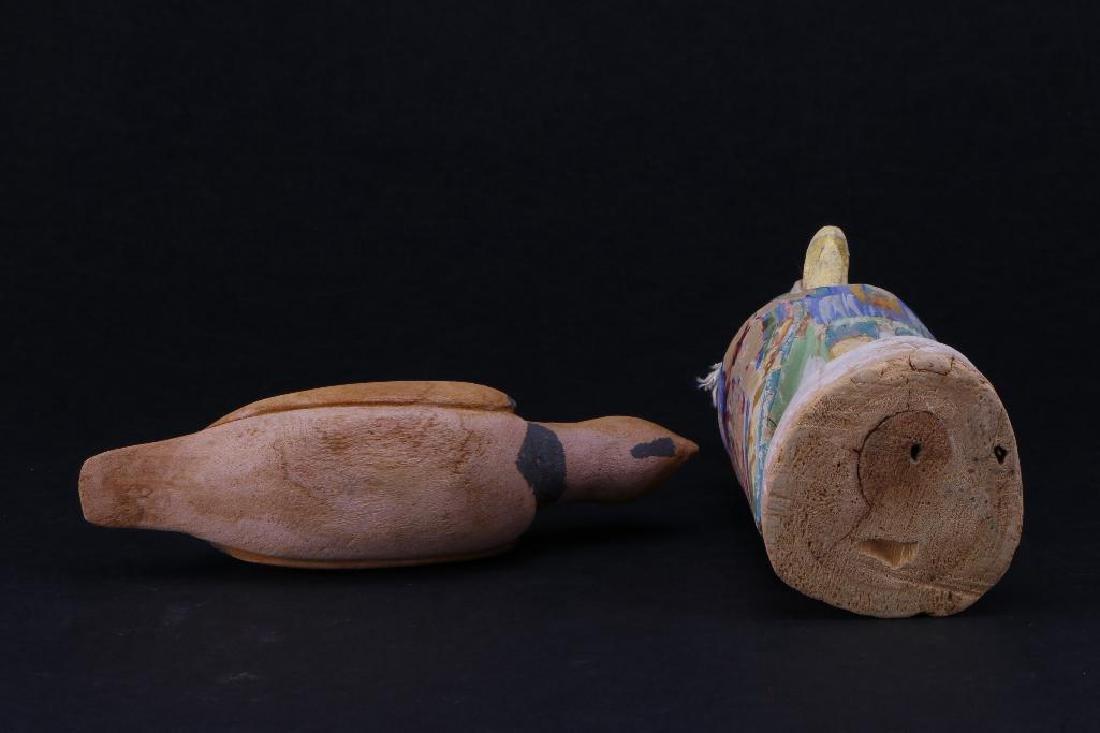 Two Hopi wood bird effigies - 6