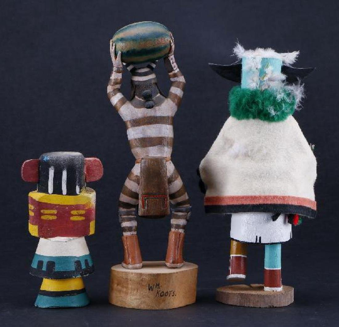 Three Hopi katsina dolls - 3