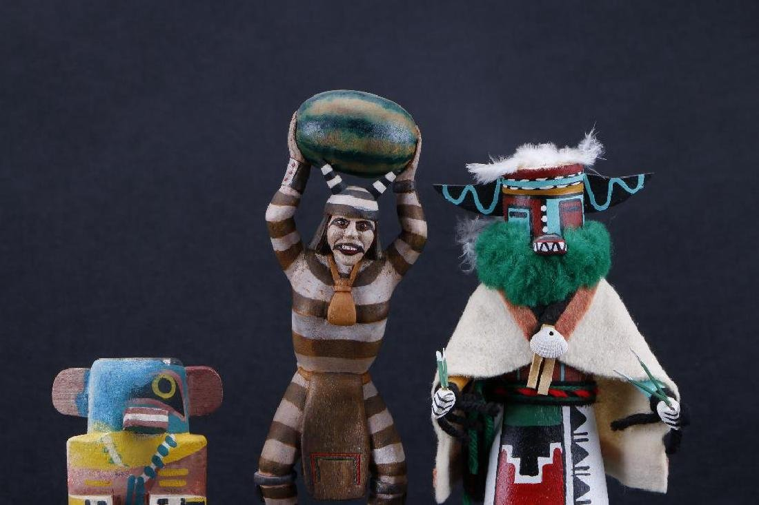 Three Hopi katsina dolls - 5