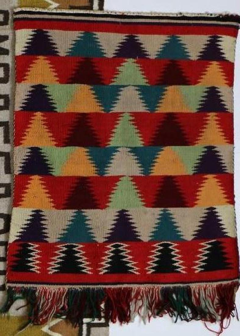 Navajo Germantown saddle blanket and pictorial rug - 3