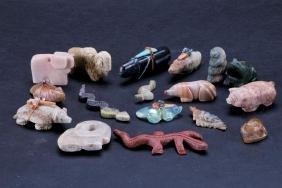 Collection of Southwest stone animal fetishes
