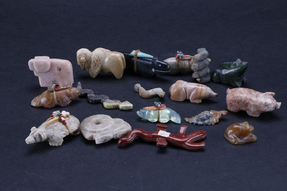 Collection of Southwest stone animal fetishes - 4
