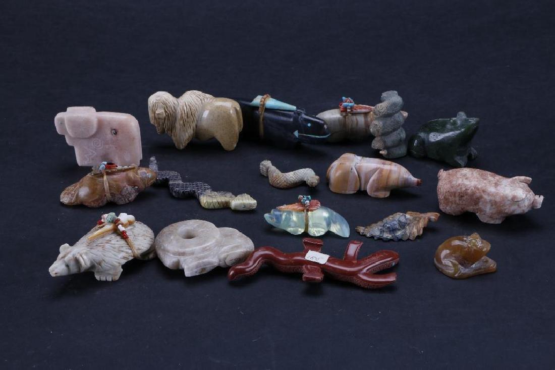 Collection of Southwest stone animal fetishes - 5