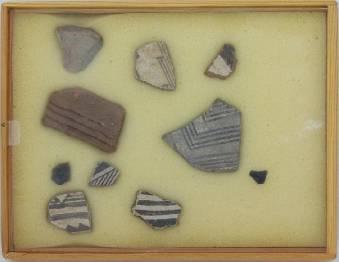 Group of ancient Southwest pottery shards - 2