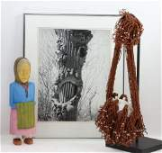 A Navajo folk art carving and other items