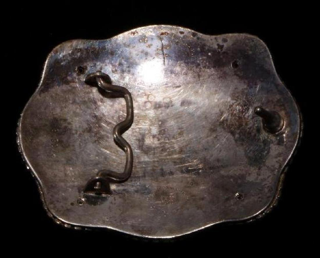 INDIAN RODEO STERLING BELT BUCKLE - 2