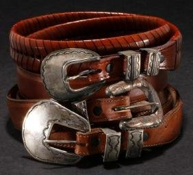 SOUTHWEST SILVER & LEATHER BELTS