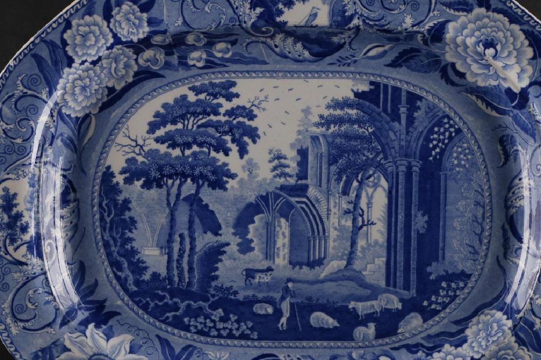 STAFFORDSHIRE BLUE & WHITE LARGE PLATTER - 2