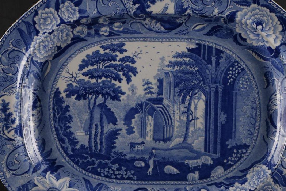 STAFFORDSHIRE BLUE & WHITE LARGE PLATTER - 3