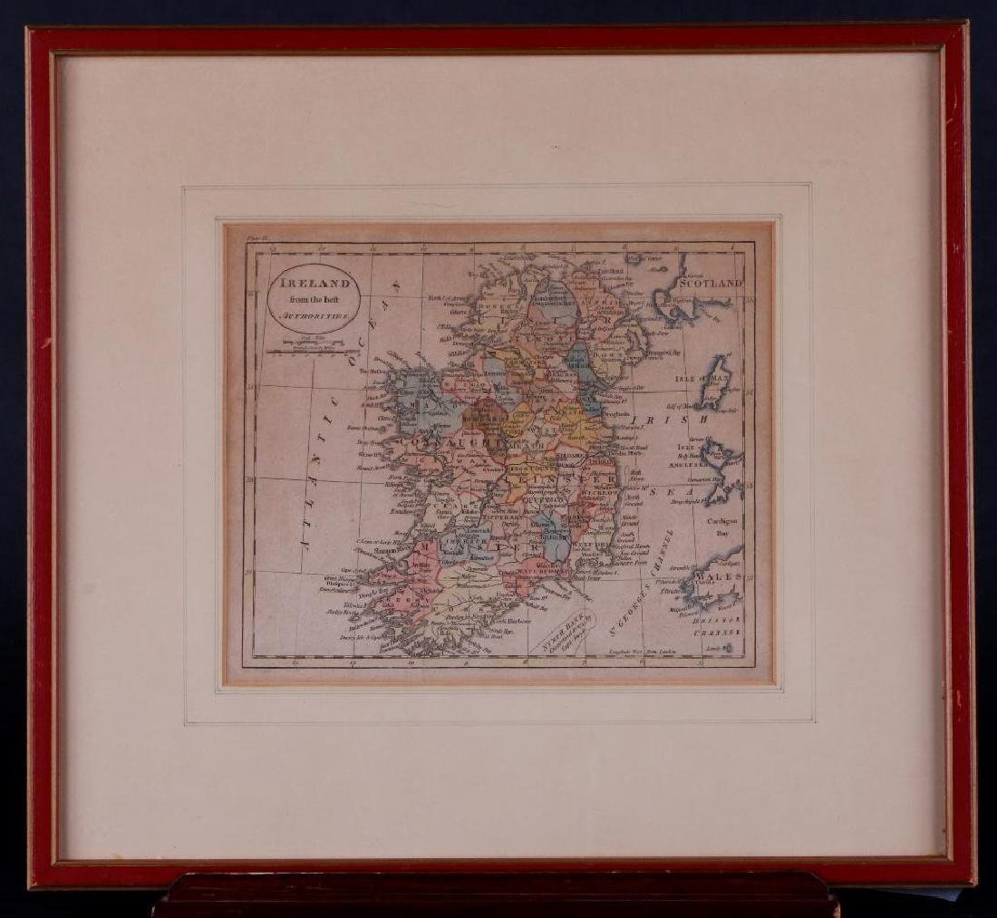 HAND COLORED MAP OF IRELAND