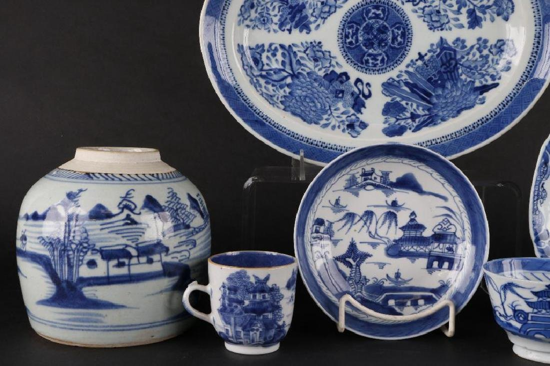 6 PIECES CHINESE EXPORT BLUE & WHITE PORCELAIN - 5