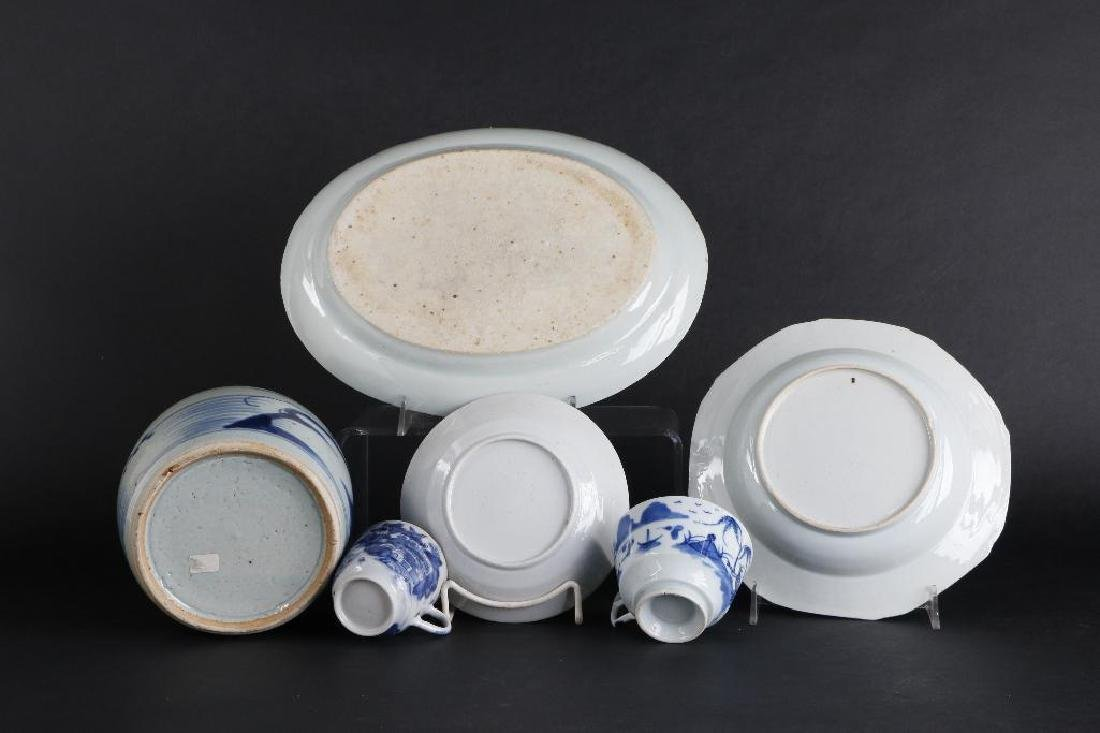 6 PIECES CHINESE EXPORT BLUE & WHITE PORCELAIN - 7