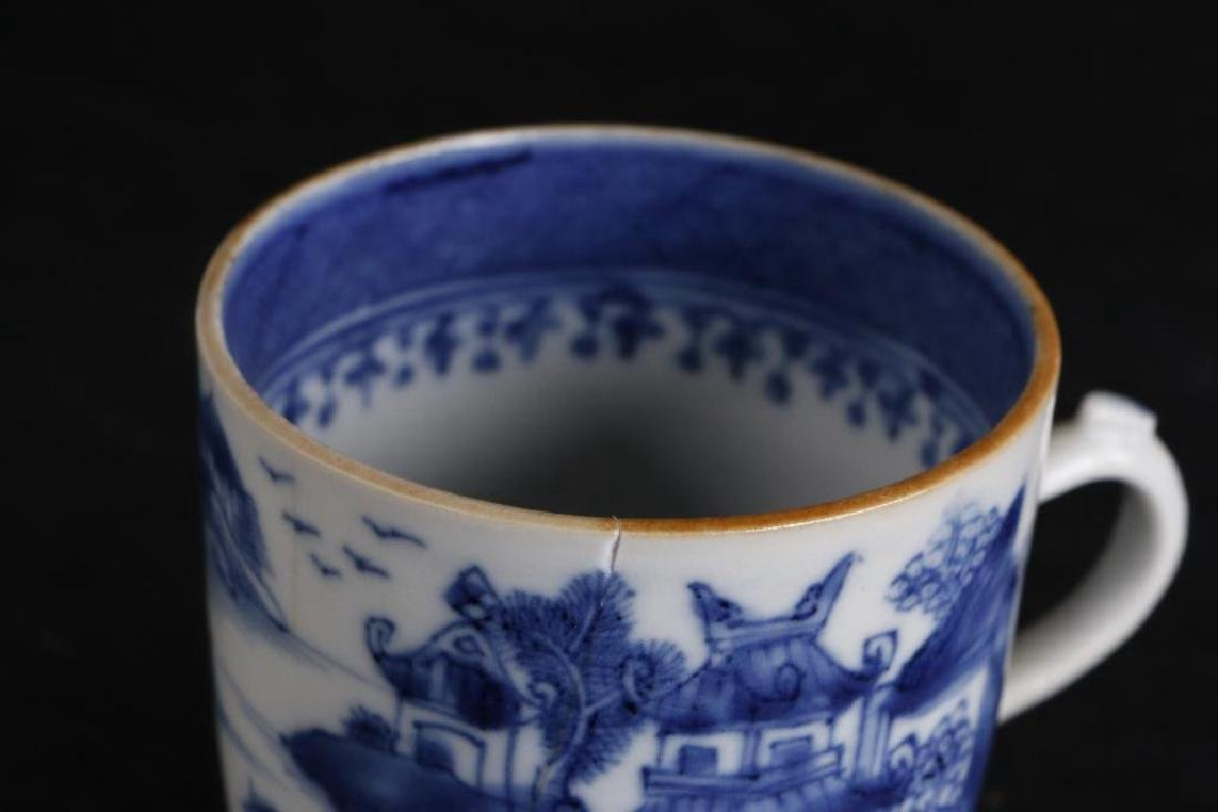 6 PIECES CHINESE EXPORT BLUE & WHITE PORCELAIN - 8
