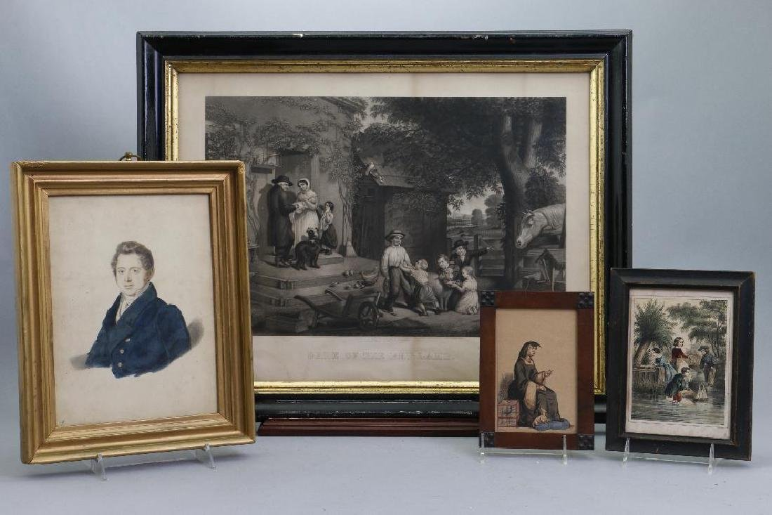 4 FIGURAL PRINTS, 19TH CENTURY