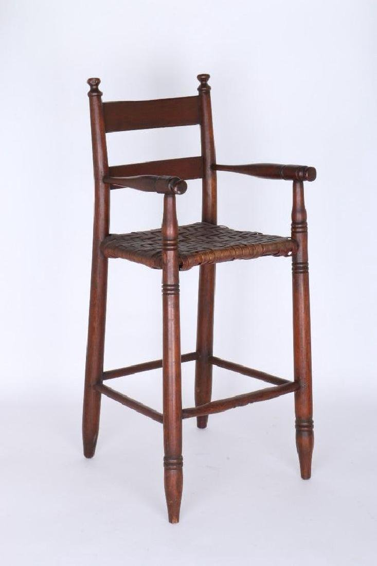 AMERICAN HICKORY  CHILD'S HIGH CHAIR, 19TH CENTURY