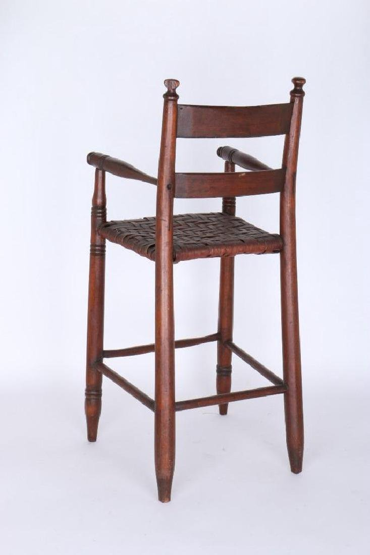AMERICAN HICKORY  CHILD'S HIGH CHAIR, 19TH CENTURY - 2