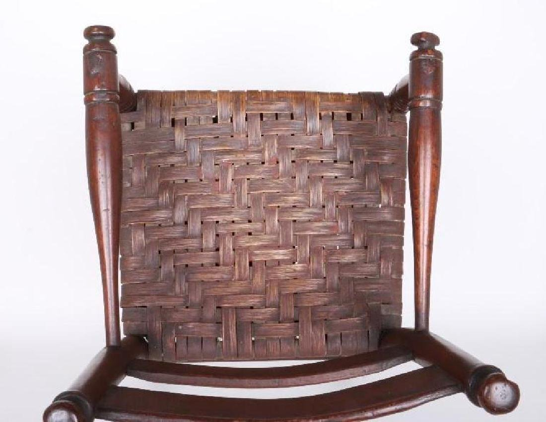 AMERICAN HICKORY  CHILD'S HIGH CHAIR, 19TH CENTURY - 3