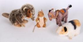 FOUR STEIFF ANIMALS