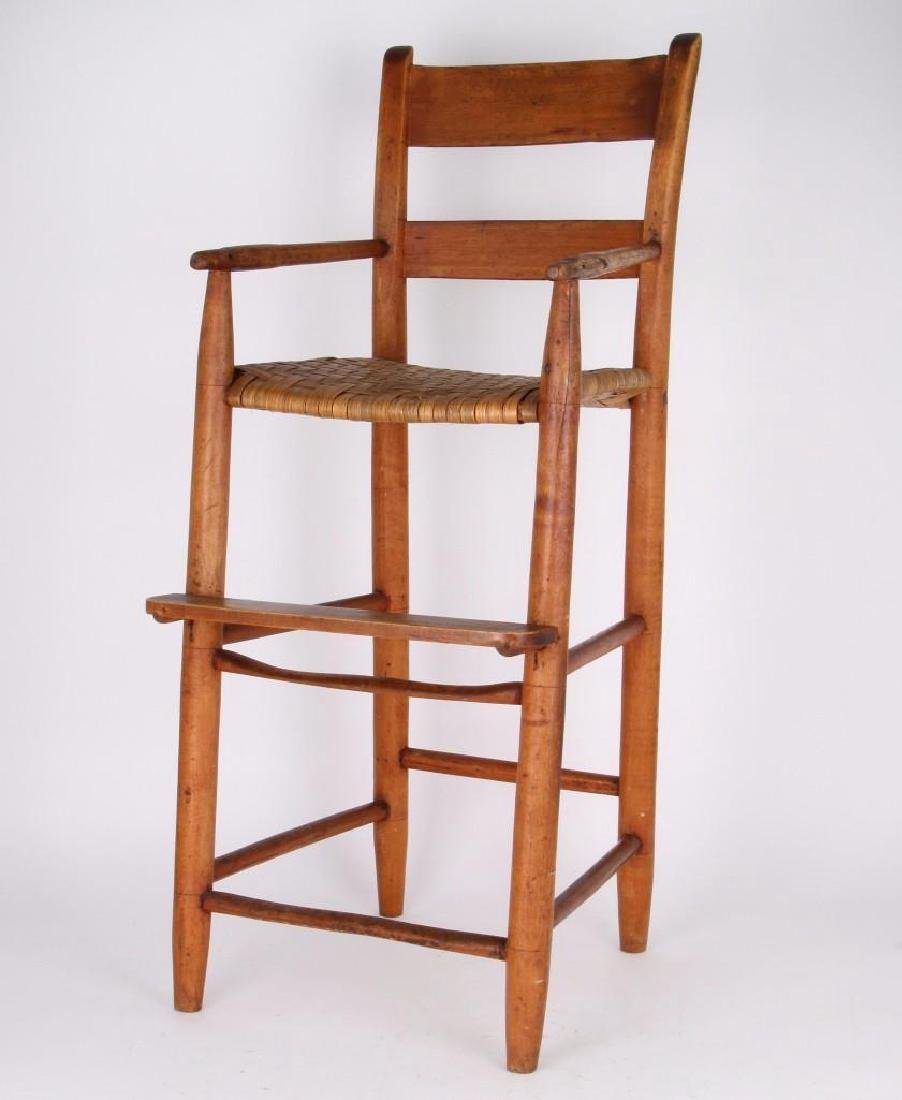 AMERICAN COUNTRY HICKORY CHILD'S HIGH CHAIR