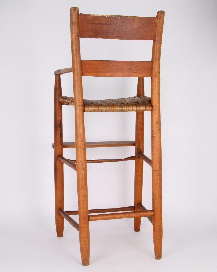 AMERICAN COUNTRY HICKORY CHILD'S HIGH CHAIR - 2