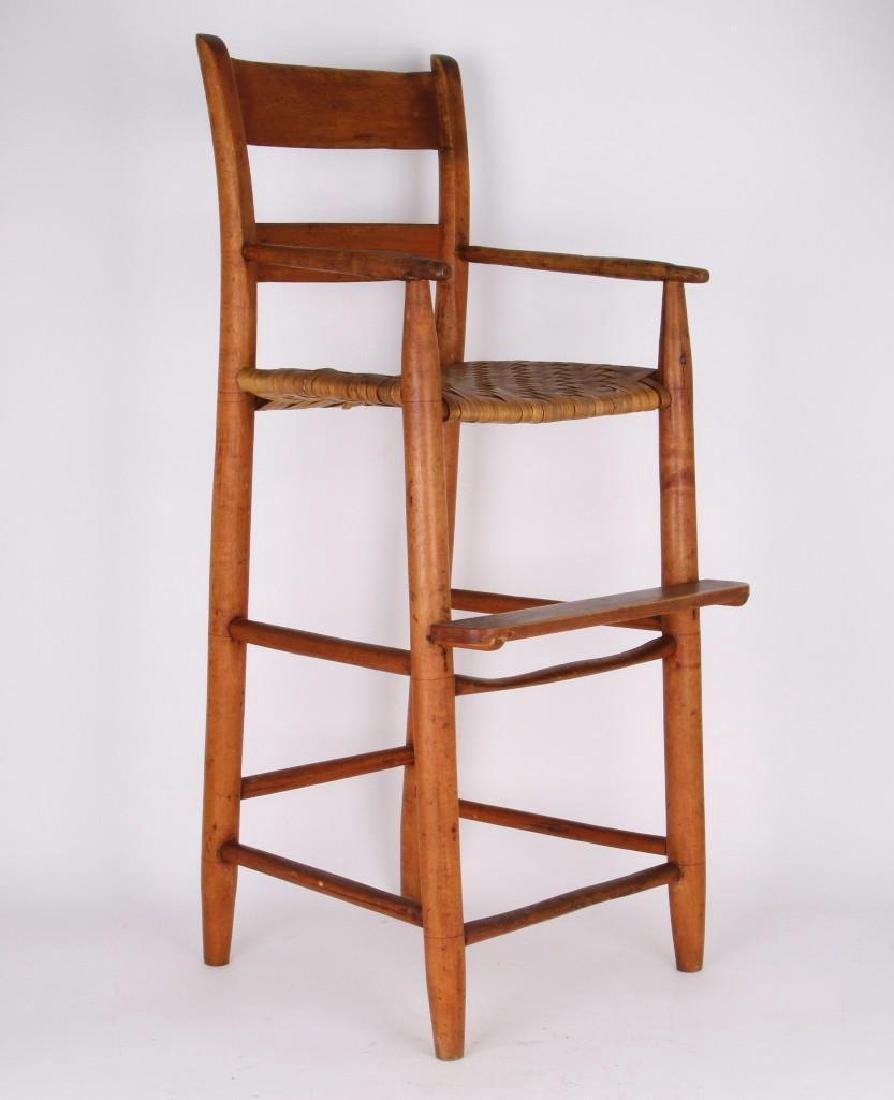 AMERICAN COUNTRY HICKORY CHILD'S HIGH CHAIR - 4