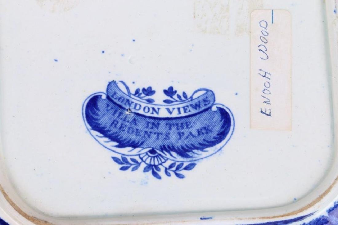 WOOD STAFFORDSHIRE BLUE & WHITE TRANSFER VEGETABLE DISH - 6
