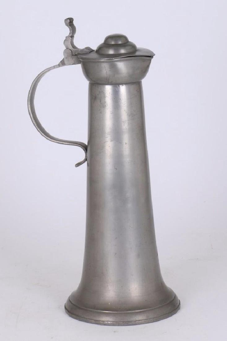 EUROPEAN PEWTER FLAGON
